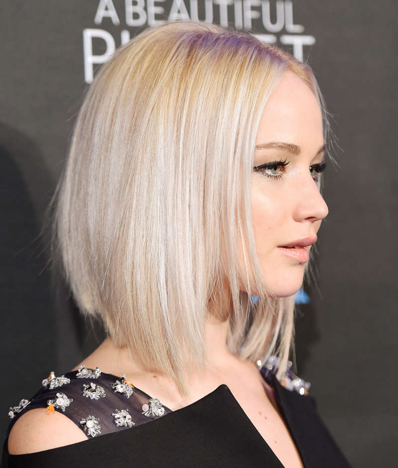 Kurzhaarfrisuren Damen Jennifer Lawrence Bob Frisur