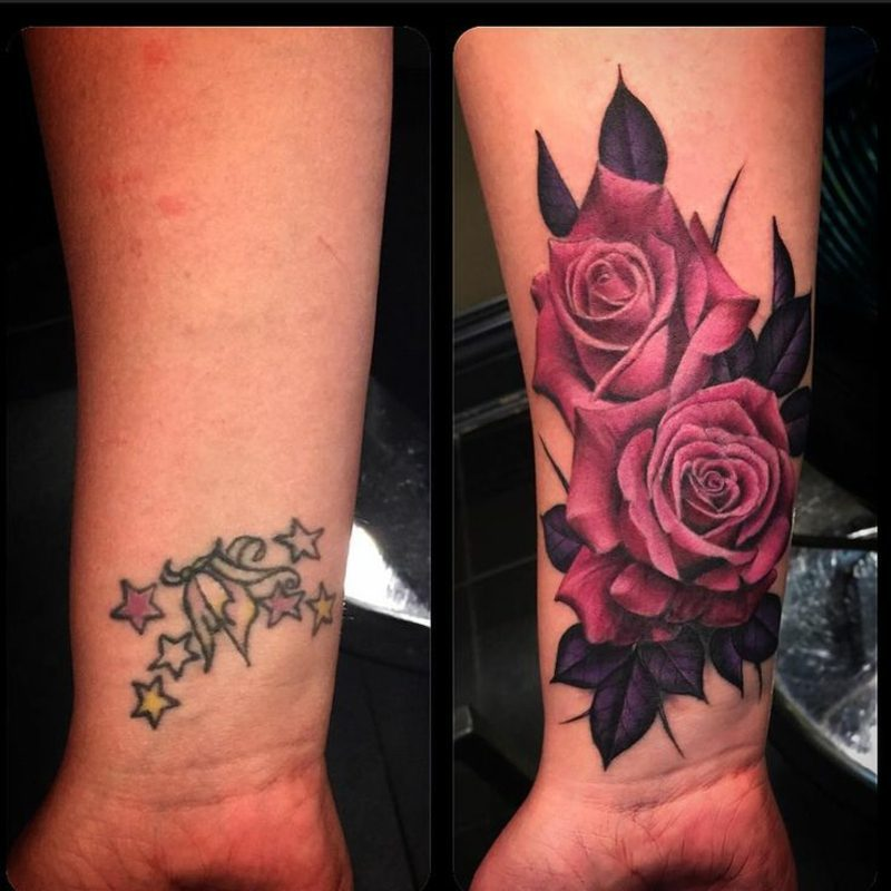 Cover up Tattoo Frau herrlicher Look