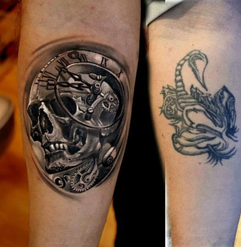 angesagte Tattooideen Cover up Mann