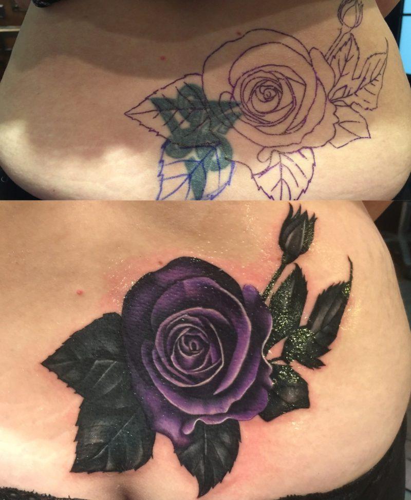 Cover up Tattoos Ideen für Frauen