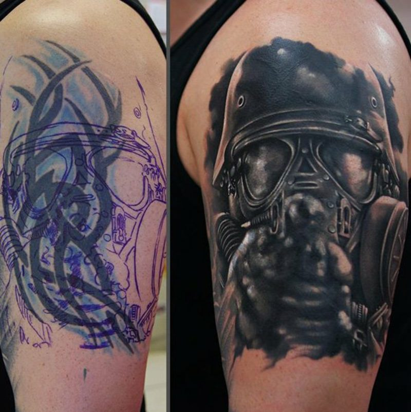 Cover up Tattoo Mann Ideen und Inspirationen