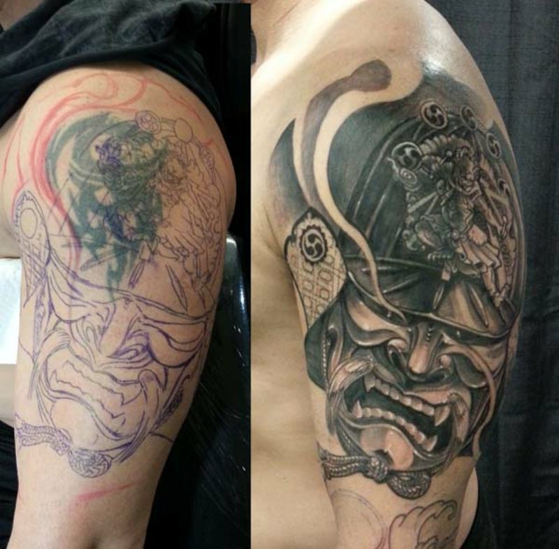 Cover up Tattoo Mann kreative Designideen