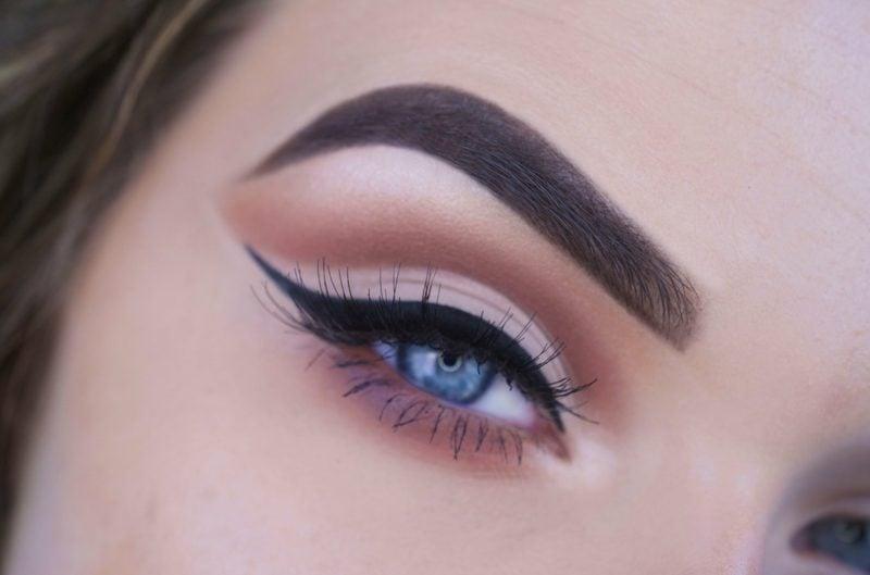 make up gelungen blaue Augen