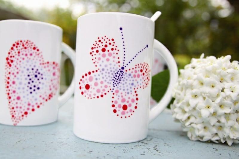 Tassen bemalen einfache anleitung und 20 inspirierende diy ideen - Tassen bemalen ideen ...