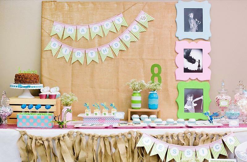 tolle Kindergeburtstag Deko basteln faszinierende Ideen