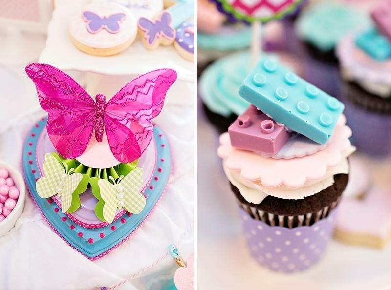 Kindergeburtstag Deko tolle Cupcakes