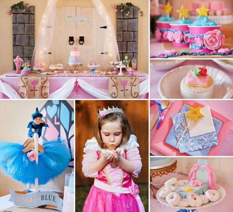 Kindergeburtstag Deko basteln kleine Prinzessin