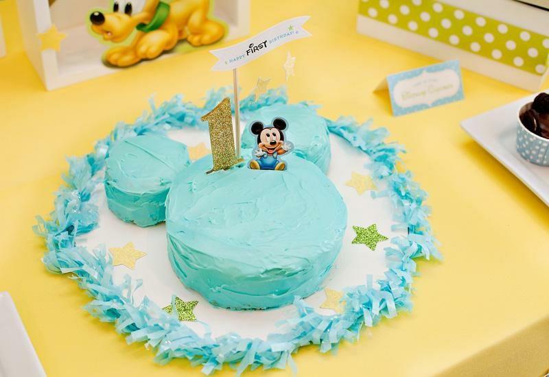 Kindergeburtstag Deko Ideen Torte Mickey Mouse
