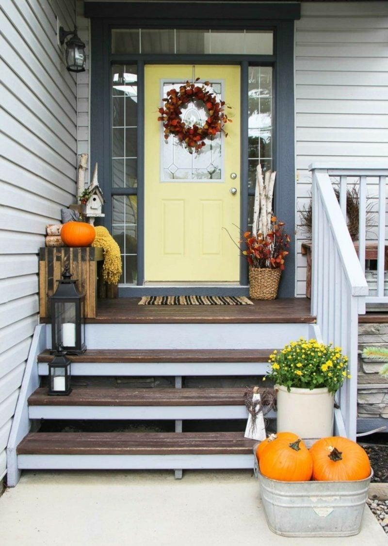 Herbstdeko für den Hauseingang selber machen