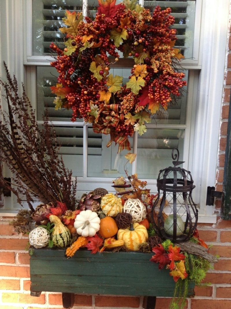 DIY Ideen Herbstdeko für den Hauseingang