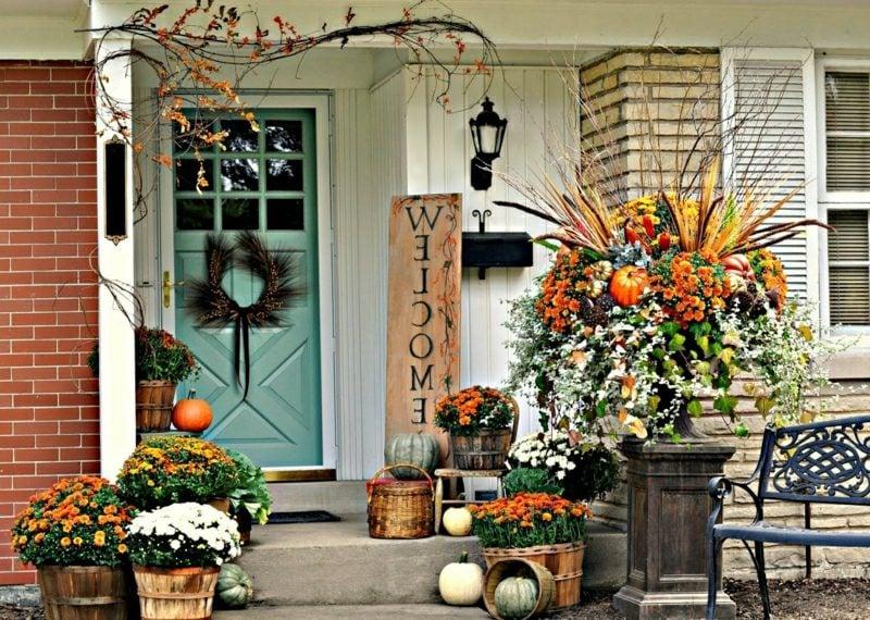 Herbstdeko Fur Den Hauseingang 25 Eindrucksvolle Bastelideen