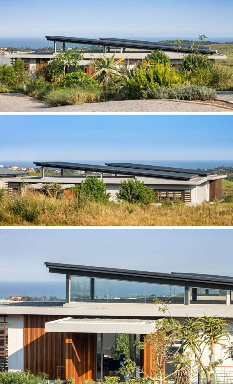 Satelldach modern Einfamilienhaus Südafrika