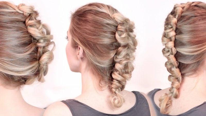 Frisuren schulterlange Haare Faux Braid