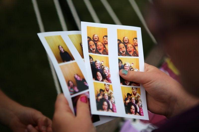 Fotobox selber bauen tolle Fotos machen Kindergeburtstag