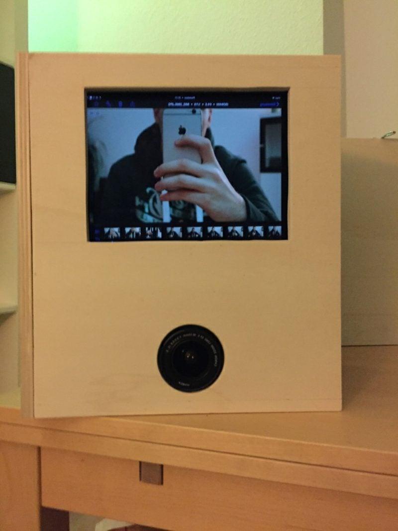 Fotobox bauen mit Tablet und Kamera
