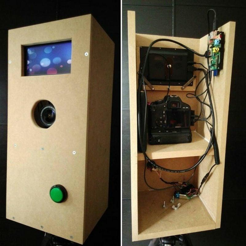 Foto Box aus Holz von innen und aussen DIY
