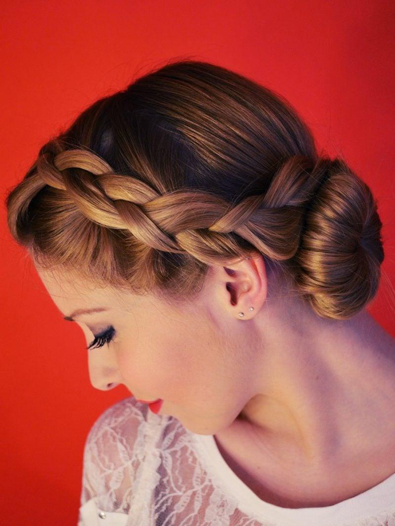 lange Haare Schnitt moderne Frisuren Bauernzopf