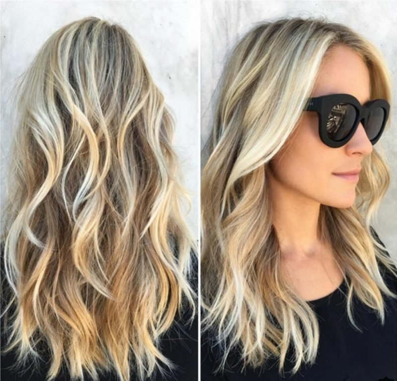 Frisuren mittellang Beach Waves
