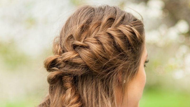 lange Haare stufen moderne Flechtfrisuren