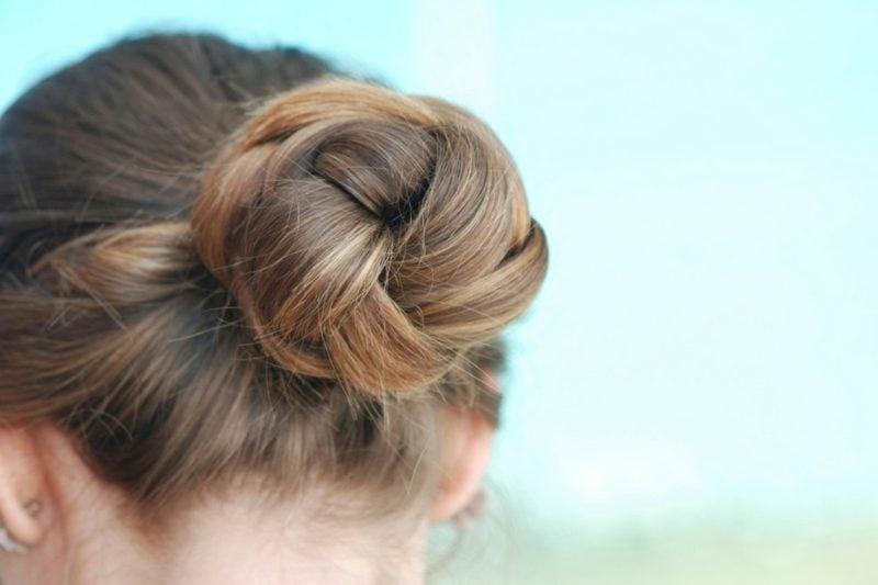 mittellange Haare Frisuren Knotendutt
