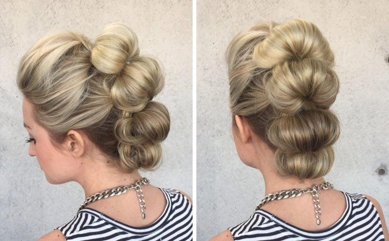 schöne Frisuren Haarfarben 2016 Hochsteckfrisuren mittellanges Haar