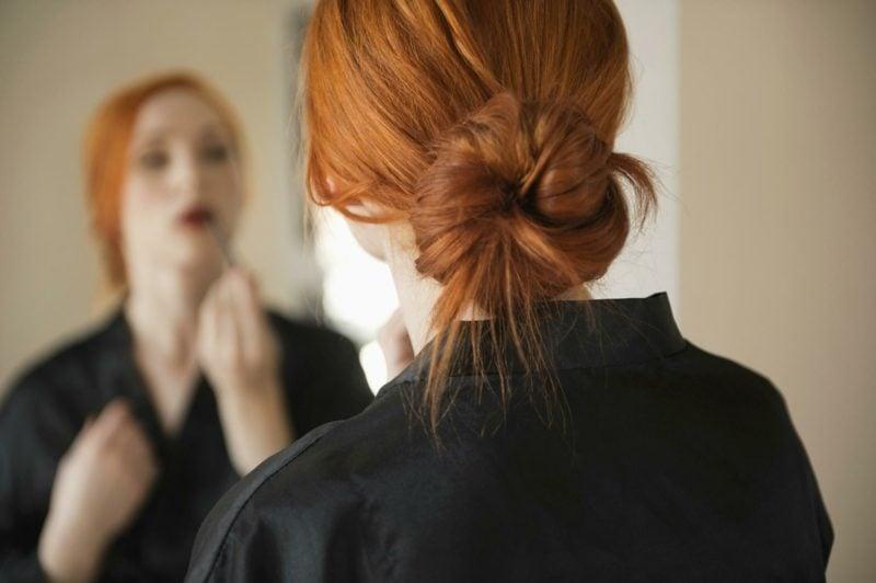mittellange Haare Frisuren Dutt Hochsteckfrisuren einfach