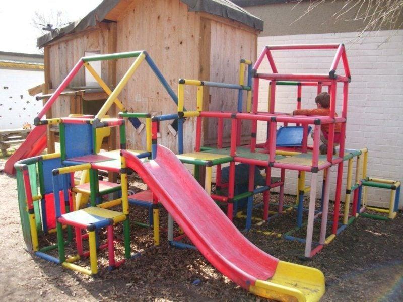Klettergerüst Für Kinder : Klettergerüst für kinder spielplatz stockfoto bild  alamy