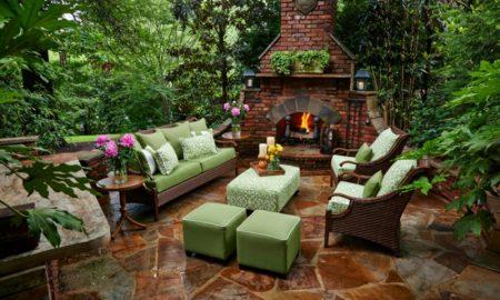 Gartenkamin selber bauen moderne Gestaltung Terrasse