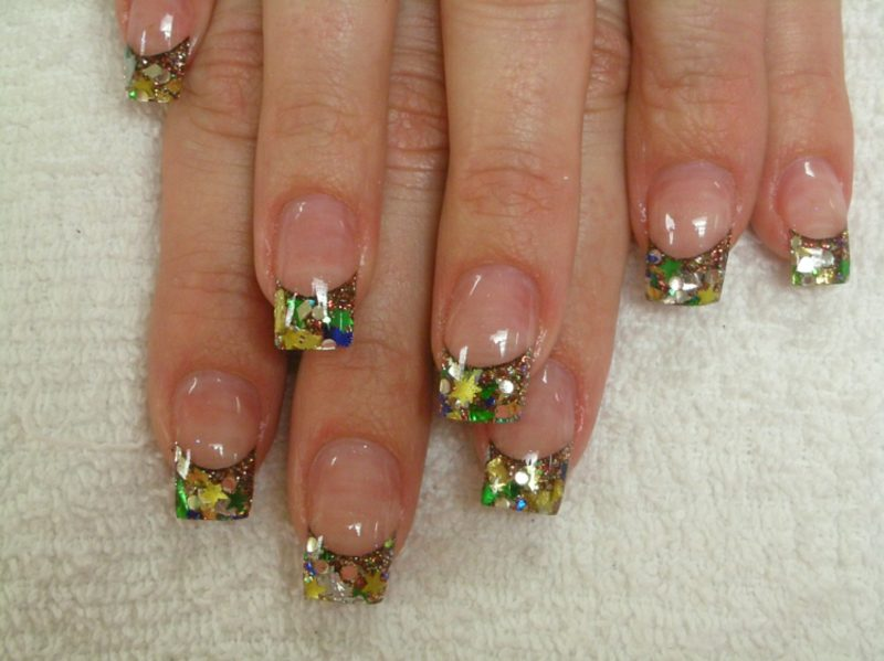 French Nägel Gellack Nageldesign Sommer 2016