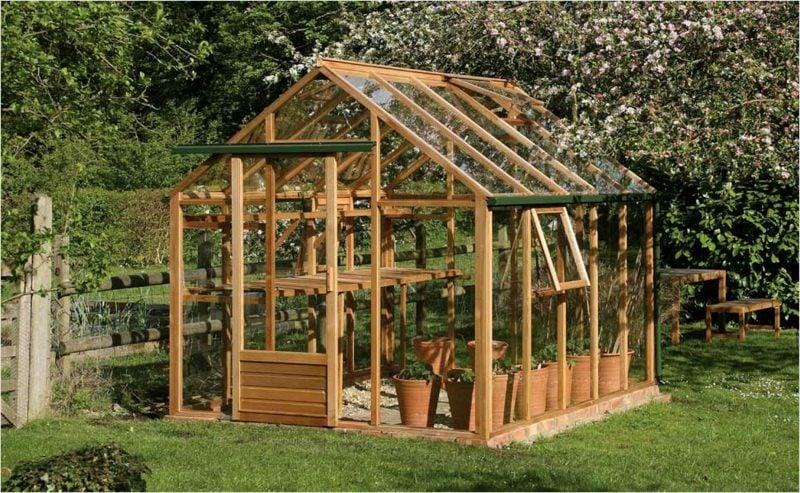 Gartengestaltung Gewächshaus selber bauen