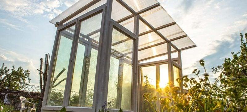 Gewächshaus selber bauen kreative DIY Ideen