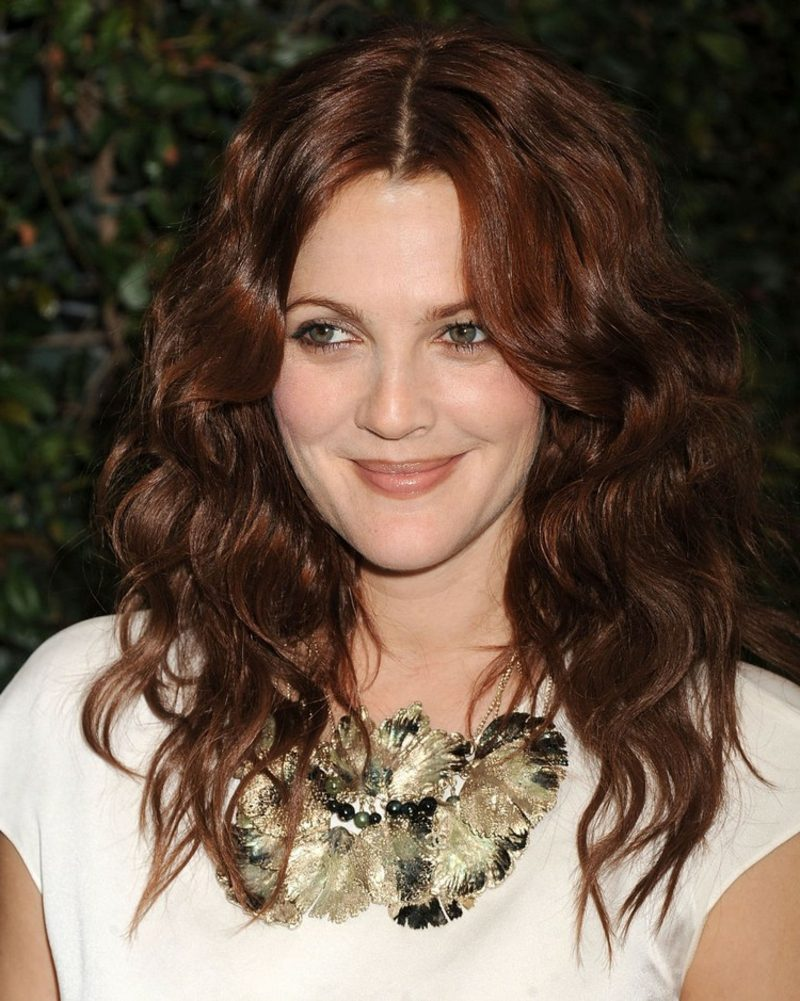 Mahagoni moderne Haarfarben Drew Barrymore