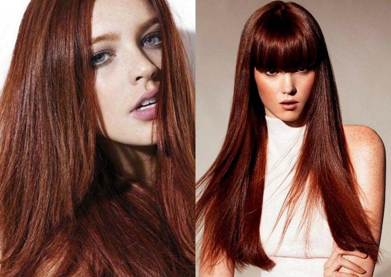 Haare rot Nuance Mahagoni
