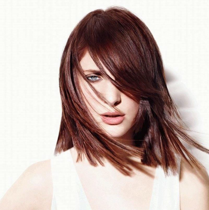 Haarfarbe Braun Nuancen Mahagoni