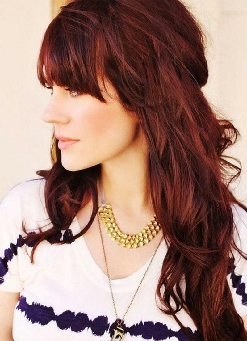 rote Haarfarbe Mahagoni
