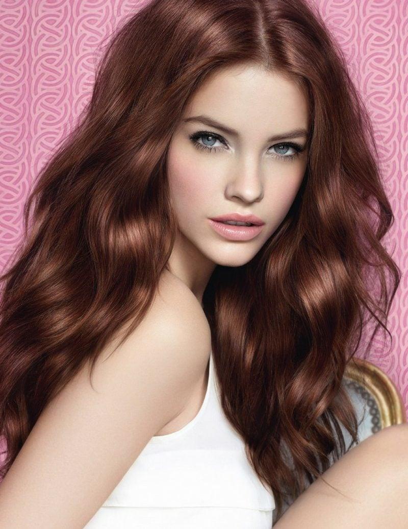 schöne Haarfarben Mahagoni