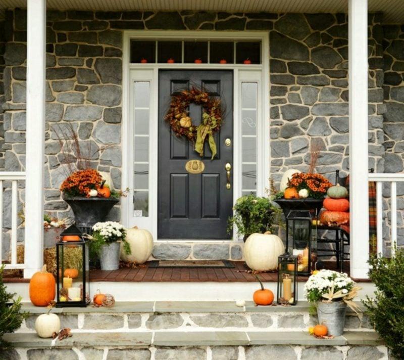 Herbstdeko für den Hauseingang Ideen zum Nachmachen