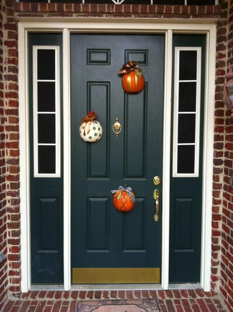 Herbstdeko für den Hauseingang Bastelideen mit Kürbissen
