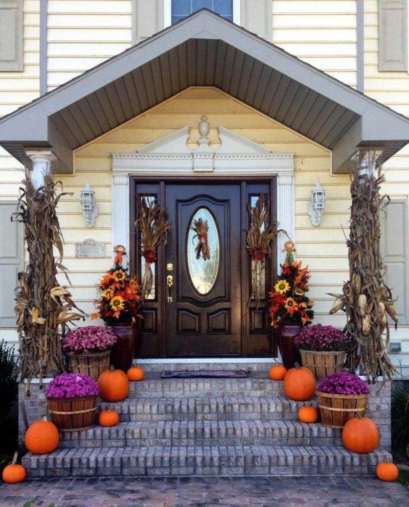 tolle Herbstdeko für den Hauseingang selber basteln