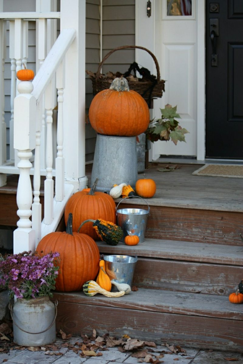 Bastelideen Herbstdeko Hauseingang