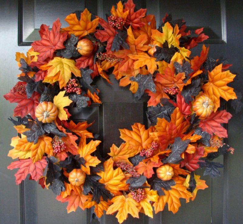 Herbstdeko für den Hauseingang Türkranz selber machen