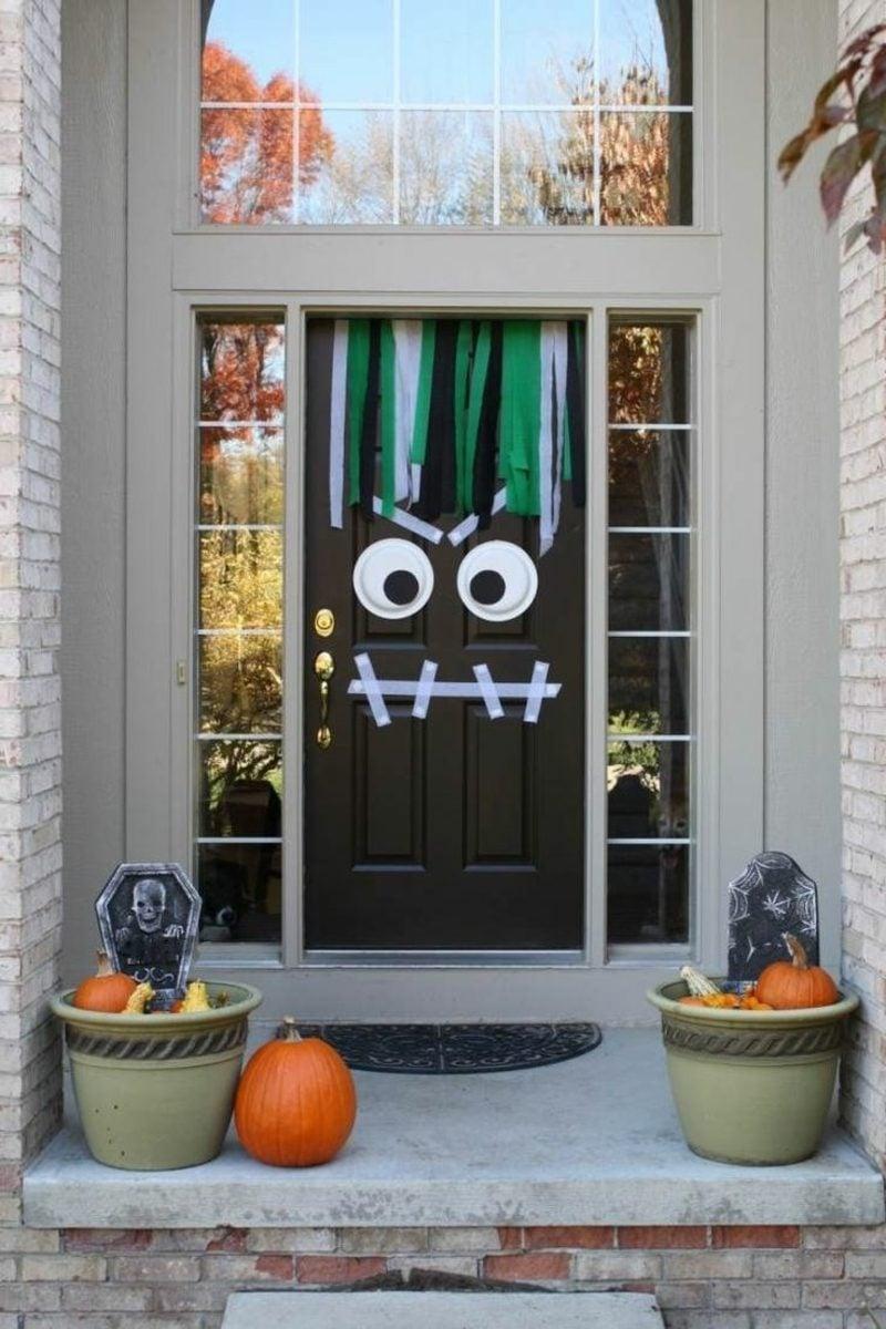 Herbstdeko Hauseingang tolle Bastelideen Halloween