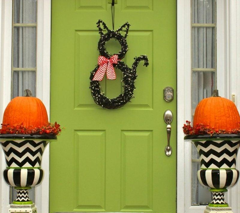 Herbstdeko für den Hauseingang originelle DIY Ideen