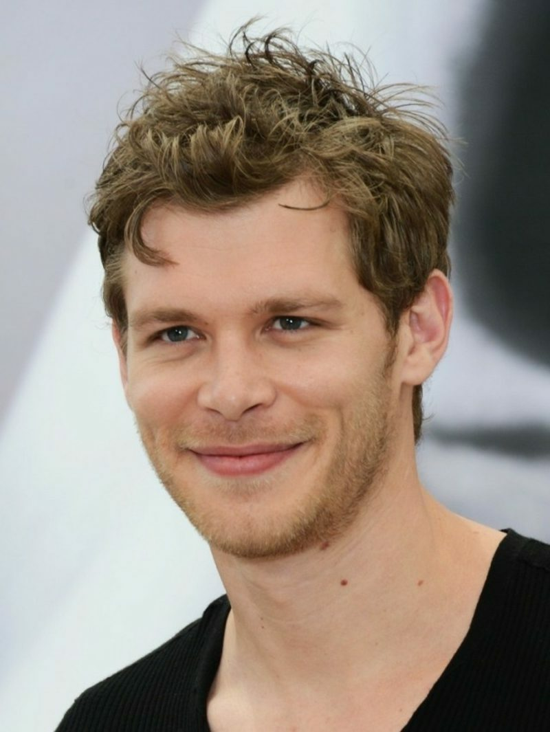 Frisuren mittellanges Haar zerzaust Joseph Morgan Frisuren locken