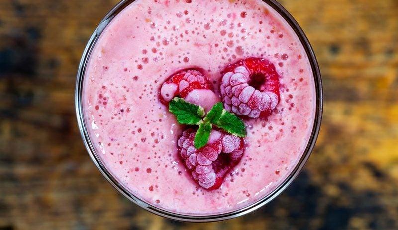 Frühstücksideen gesund Rezepte Himbeer-Smoothie