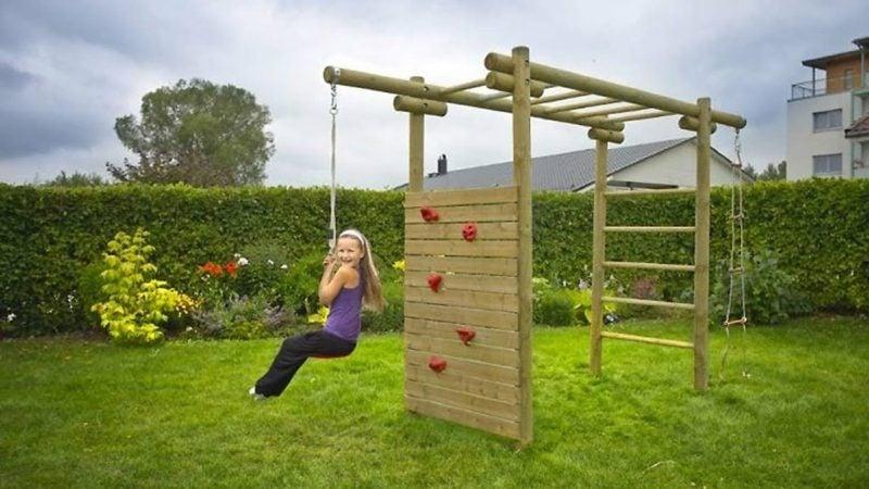 Klettergerüst selber bauen Spielecke gestalten