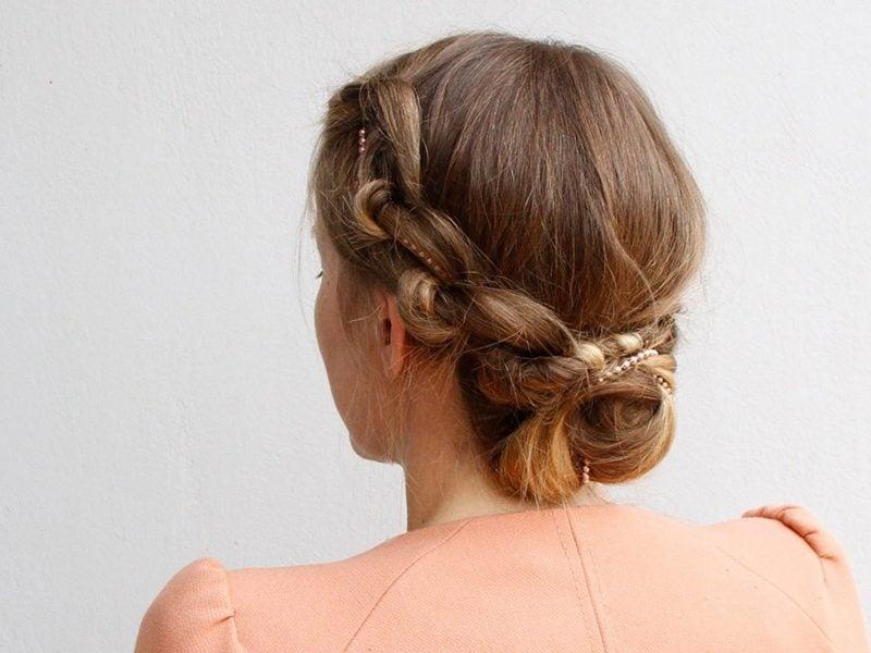 festliche Frisuren Knotted Updo Frisur