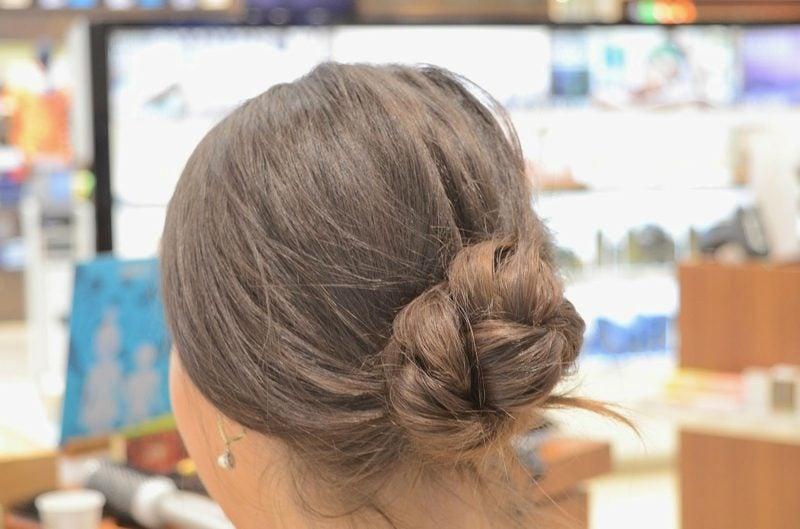 Frisuren damen lange Haare Knotendutt