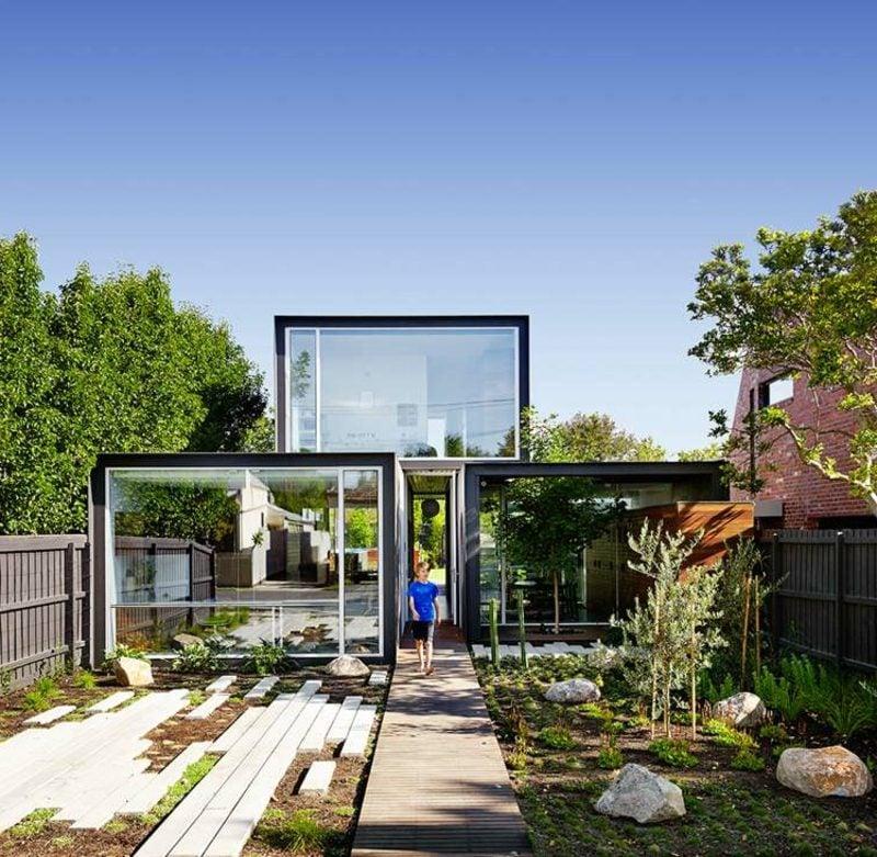 Grundriss haus Flachdachhaus Australien