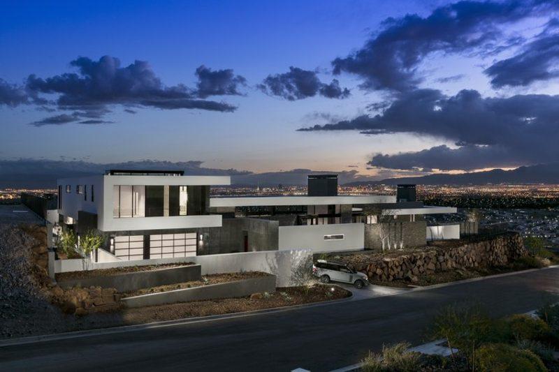Haus modern Luxusvilla Nevada in der Nacht